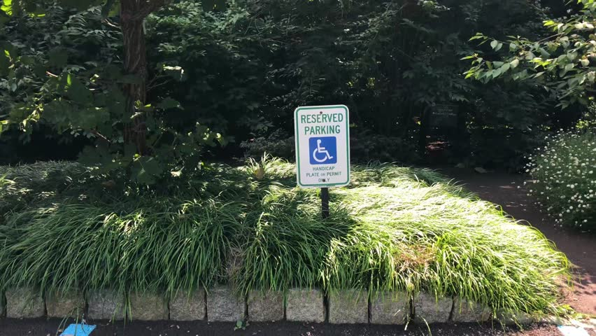 Reserved parking, Handicap plate or permit only sign.