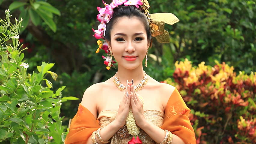 Stock Video Clip Of Beautiful Thai Woman Salute Respect In
