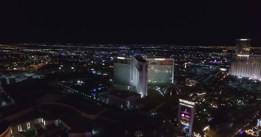 Las Vegas Strip 4k Aerial Footage | Shutterstock HD Video #1017754702
