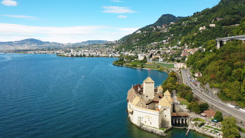 Aerial View of Medieval Island Stock Footage Video (100% Royalty-free)  1017810202 | Shutterstock