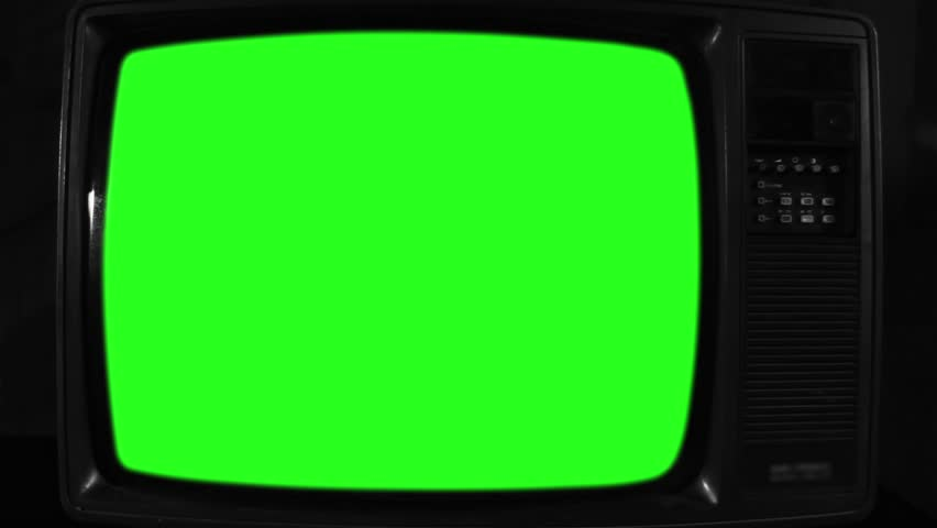 Old Television with Green Screen. Black and White Tone. Ready to  replace | Shutterstock HD Video #1017942472