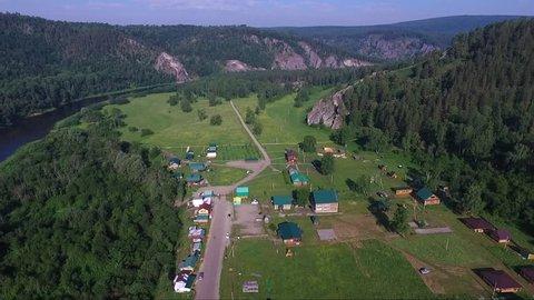 Kapova cave, Shulgan tash nature reserve, Bashkortostan, Russia. Aerial view