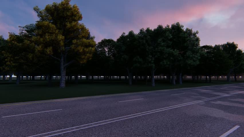 Trucker goes on night wet road | Shutterstock HD Video #1018020682