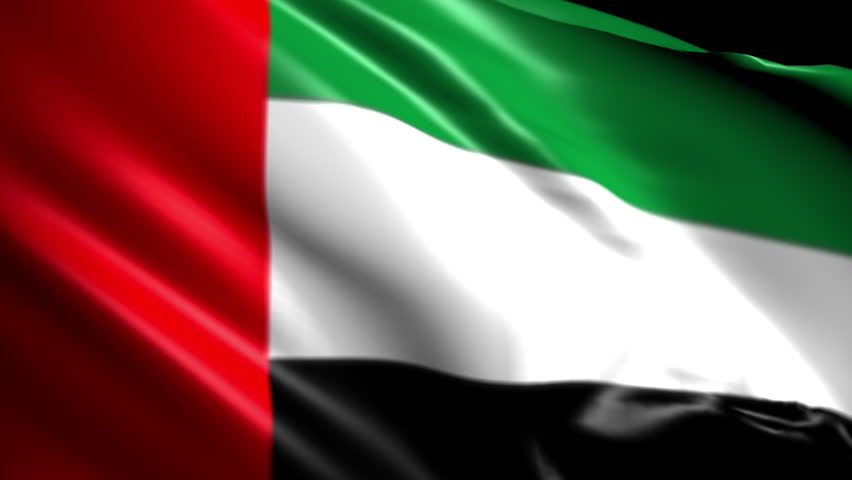 Flag of The United Arab Emarites. Animated Slow pan to the right. Transition element | Shutterstock HD Video #1018072222