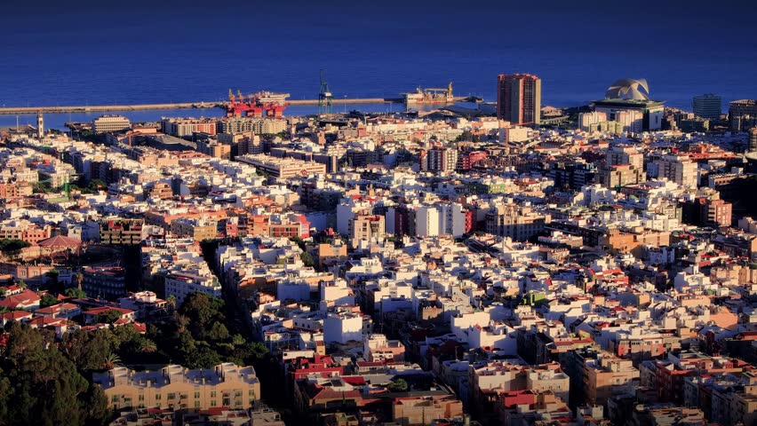 Santa Cruz de Tenerife timelapse | Shutterstock HD Video #1018127632