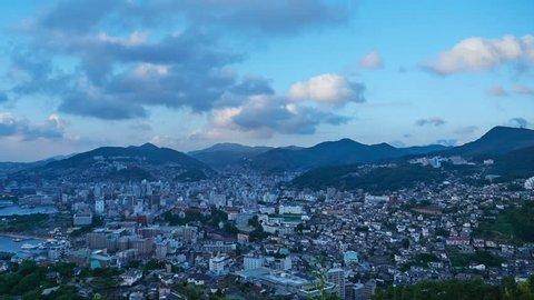timelapse of Nagasaki city