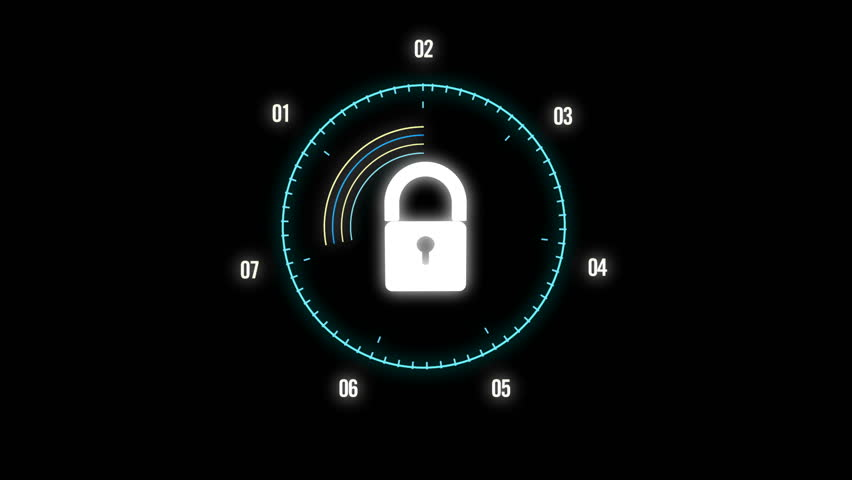 Security Concept Head up Display with padlock   Shutterstock HD Video #1018174192