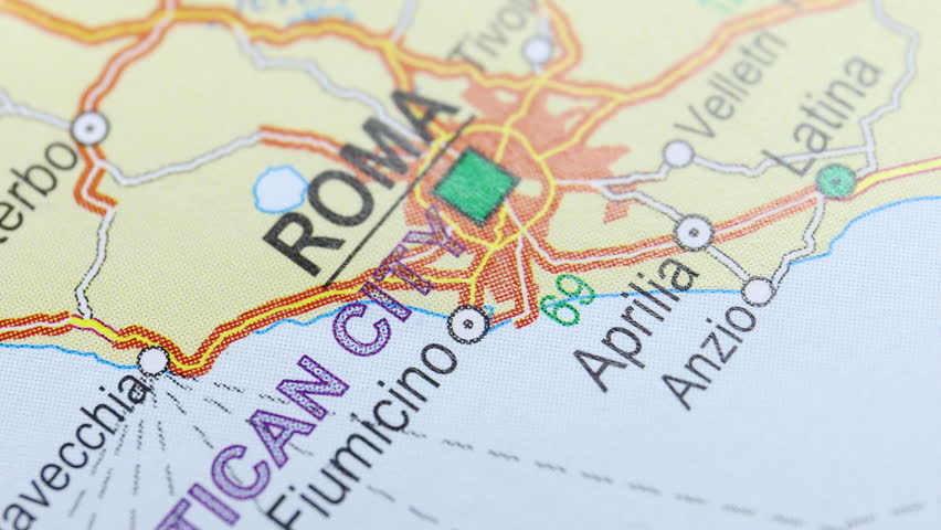 Map from the top, moving from Roma to London, foreign affairs | Shutterstock HD Video #1018195072