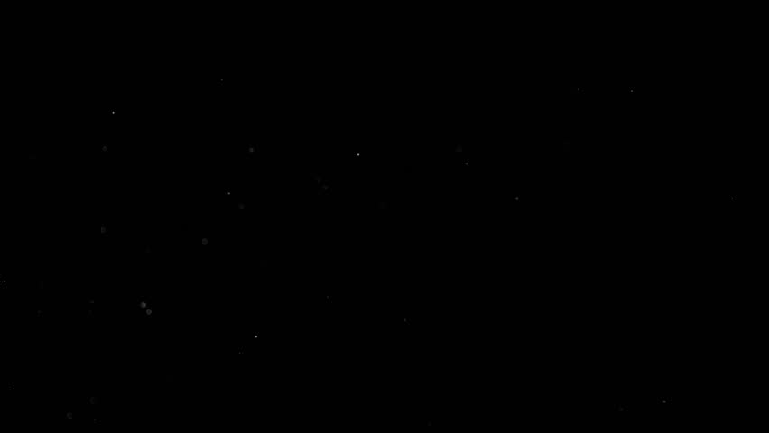 Floating particles on black background. Slow motion. | Shutterstock HD Video #1018218742