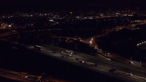 Spaghetti Junction Birmingham at Night.