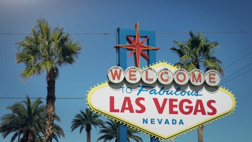 Welcome To Fabulous Las Vegas Nevada Sign daytime.  | Shutterstock HD Video #1018499542
