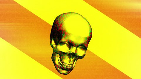 Pop grunge horror skull loop version three  Animated background with last frame removed for looping HD 30FPS weird flashes grunge horror