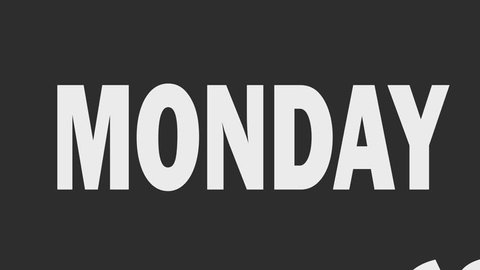 Cyber Monday sale animation with kinetic typography in fast motion. Sale promotion and advertising. Ultra hd resolution
