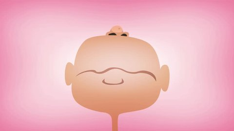 Cartoon Baby's Mouth Screaming And Yelling Loopable/ Animation of a 4k funny cartoon baby mouth screaming and yelling with retro texture over