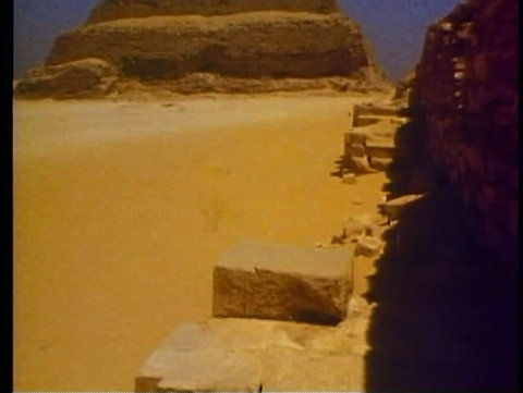 CAIRO, EGYPT, 1977, Step Pyramid of Sakkara, oldest man made structure on earth
