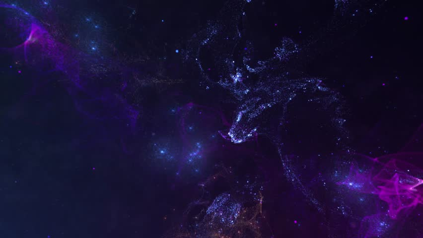 Deer, view on galaxy with central body that attracts the surrounding objects   Shutterstock HD Video #1019025262