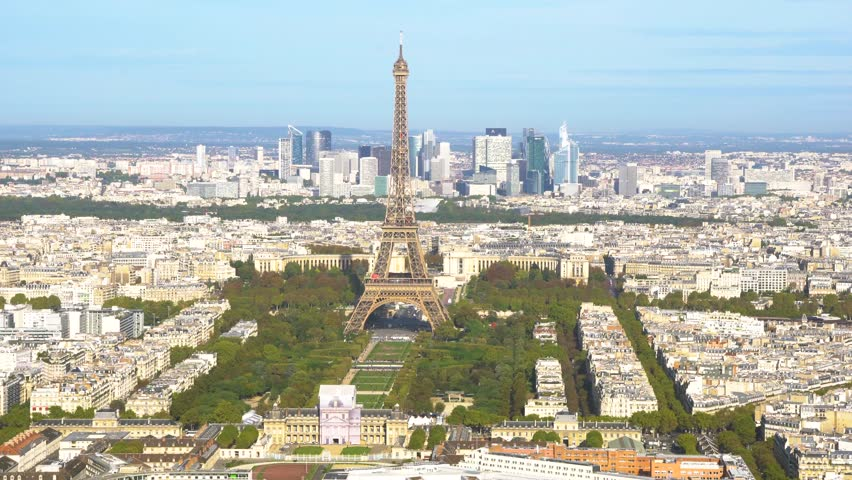 Eiffel Tower and Paris cityscape | Shutterstock HD Video #1019056132