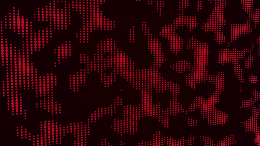Abstract motion background loop digital dot modern red | Shutterstock HD Video #1019097112