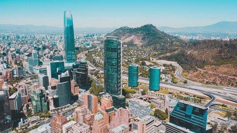 Aerial time lapse of Santiago de Chile