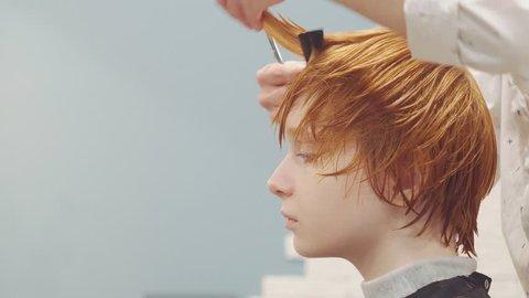 Hair Beauty Salon Short Cut Stock Video Footage 4k And Hd Video
