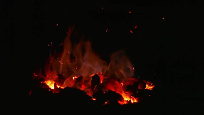 Fire and sparks in the forge red | Shutterstock HD Video #1019399872