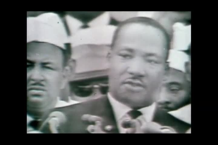 """Washington, United States of America. 28 August 1963. """"I have a dream"""",  Martin Luther King speaks to the crowd during the civil rights march"""