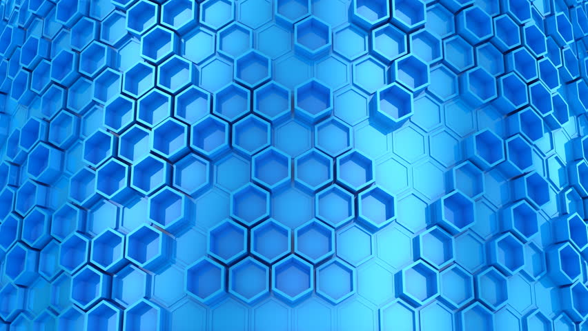 Background of Hexagons. Abstract background, 2 in 1, loop, created in 4K, 3d animation | Shutterstock HD Video #1019636812