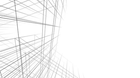 Abstract architecture geometric background 3d