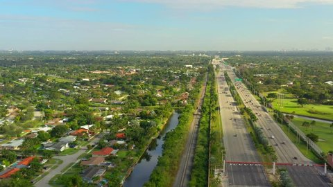 Aerial Miami Florida Kendall Highway 874