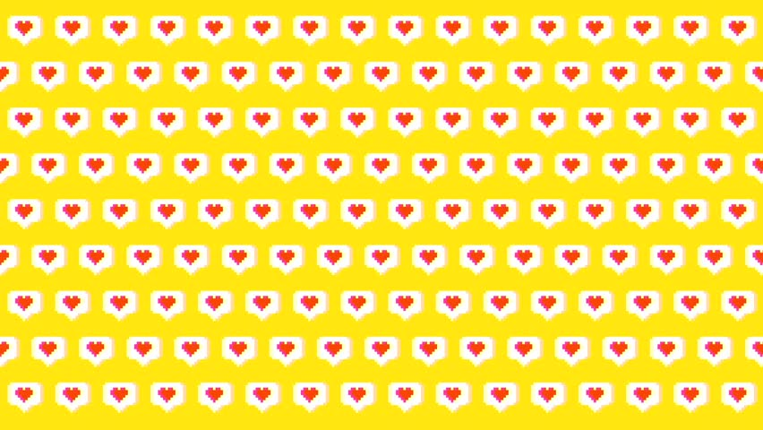 Social Media Pixel Art Like Heart Icons 4K Animation Loopable Background. | Shutterstock HD Video #1019969542