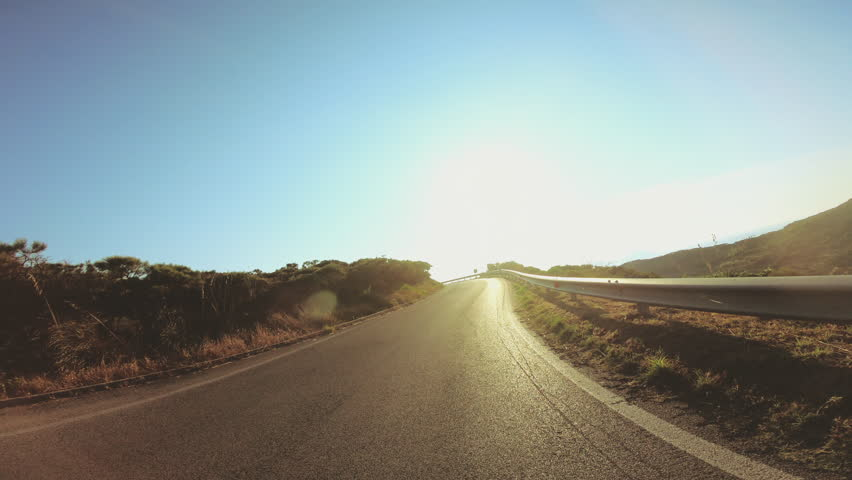 POV Driving motorcycle on mountain road above the sea in Ponza island Italy. Point of view shot. 27_Ponza_Collinetta_GOPRO_09 | Shutterstock HD Video #1020019222