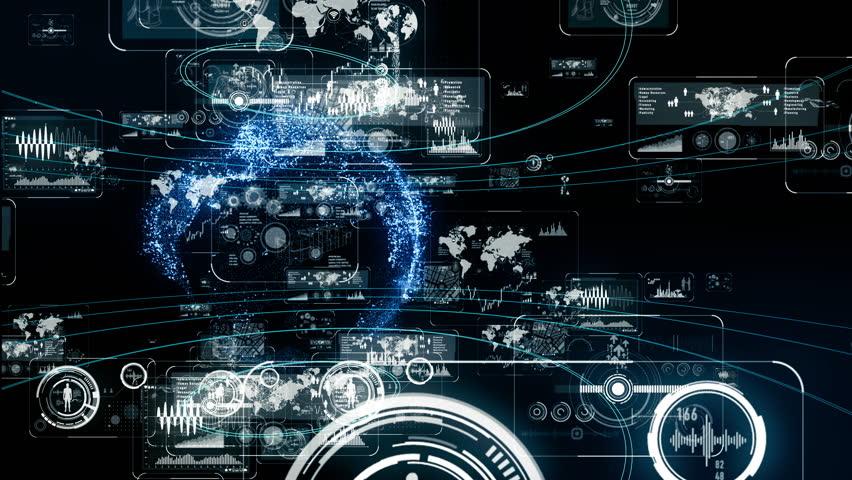 Futuristic interface concept. | Shutterstock HD Video #1020073342