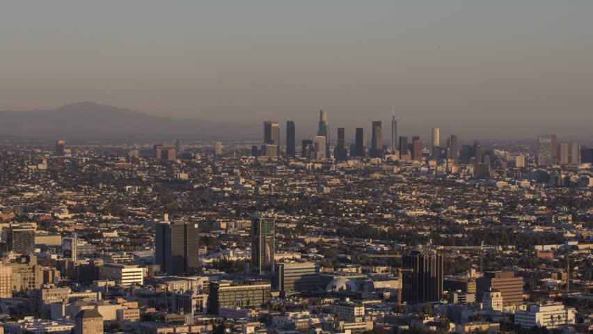 Time Lapse of City of Los Angeles during sunset in California | Shutterstock HD Video #1020427792