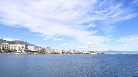 Beautiful panoramic view over Torremolinos city - Malaga, Spain.