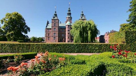 Rosenborg Castle or Rosenborg Slot, a Flemish Renaissance style castle and one of the most important landmarks of Copenhagen, Denmark