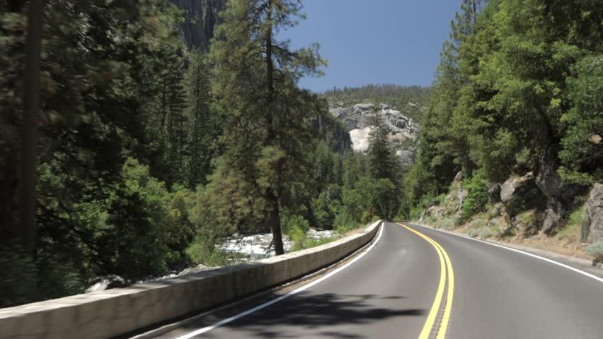 Travelling through Yosemite Valley, Yosemite National Park, UNESCO, California, USA