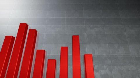 Business data graph chart bar