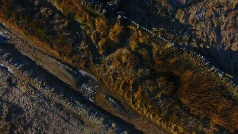 Peak District Autumn Wildboarclough drone 4k