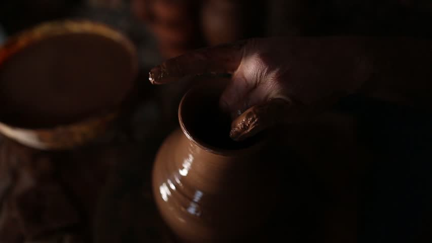 Pottery making. Handmade pottery | Shutterstock HD Video #1020786802