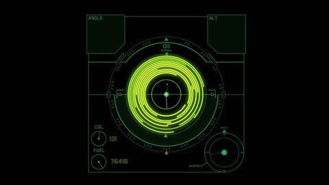 4k Radar GPS signal tech screen display,future science sci-fi data computer game navigation dashboard HUD technology interface background.8151_4k