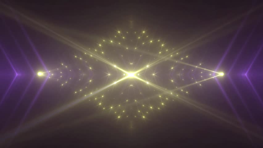 Gold and violet stage lights tunnel. Neon lights background disco floodlight with rays on black background. Movement of lasers. VJ Footage seamless loop. For background fashion show   Shutterstock HD Video #1020869902