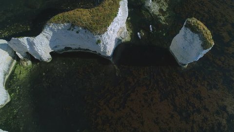 Aerial View of Old Harry Rocks, Handfast Point, Isle of Purbeck, Dorset.