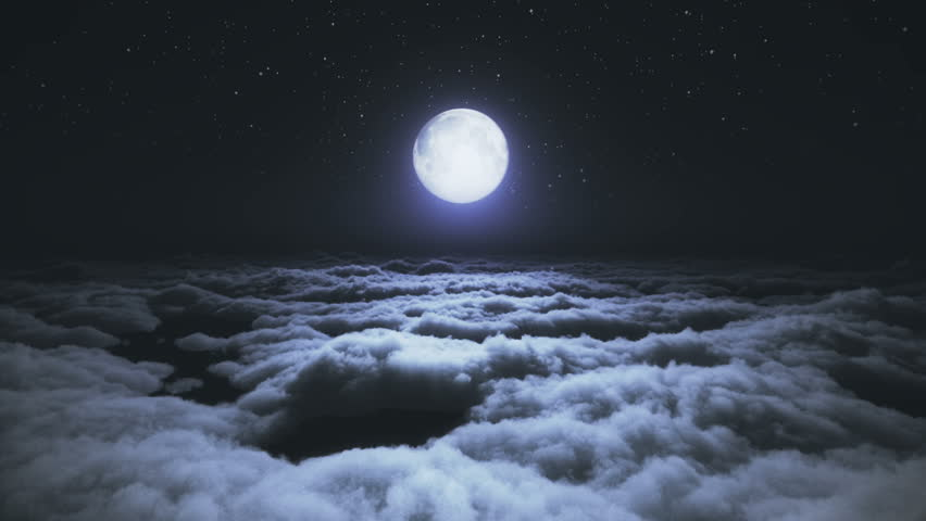 Above clouds full moon | Shutterstock HD Video #1020980002