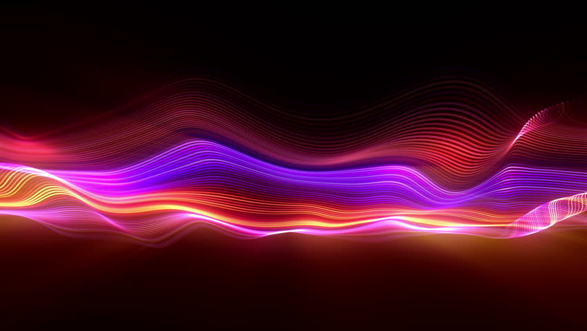 Big data wave of particles. Futuristic neon glowing surface. Abstract motion background | Shutterstock HD Video #1021142362