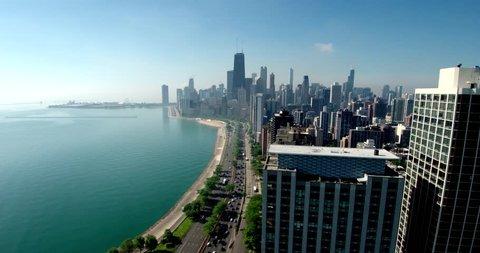 Chicago Coast & Skyline, Lake Michigan