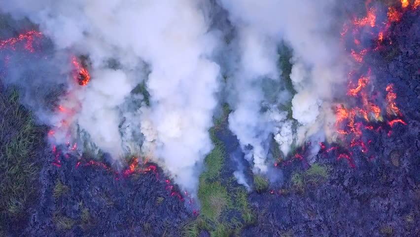 4K, Aerial view smoke of wildfire    Shutterstock HD Video #1021215052