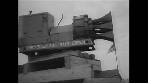 CIRCA 1956 - Operation: Alert is coordinated, simulating a hydrogen bomb attack in the United States.