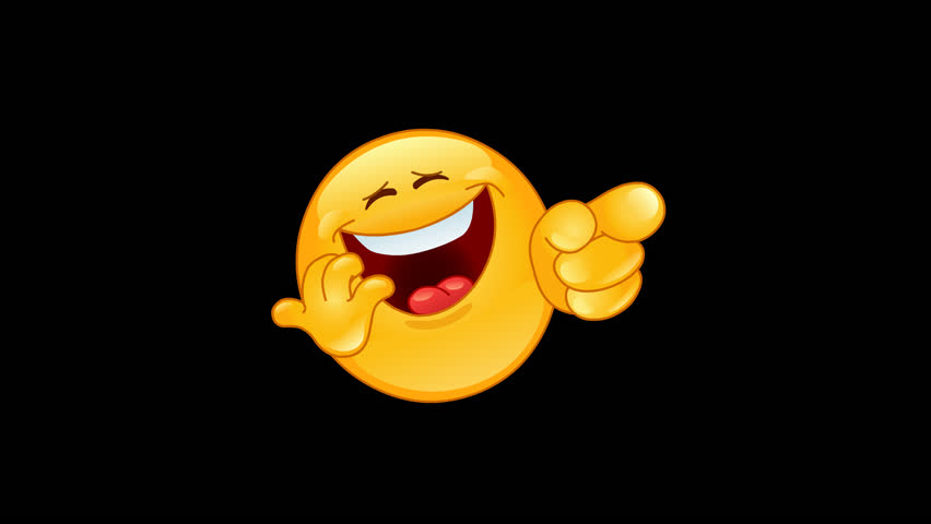 Animation of a Laughing and pointing emoticon including alpha channel | Shutterstock HD Video #1021230742