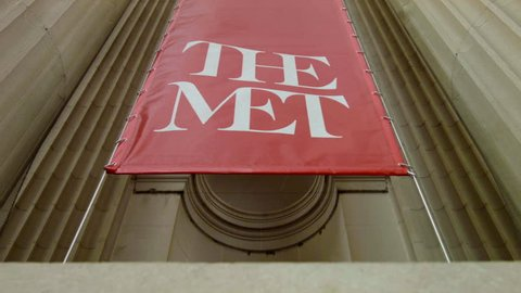 The Met, Metropolitan Museum of Art Building Sign at Entrance, New York City