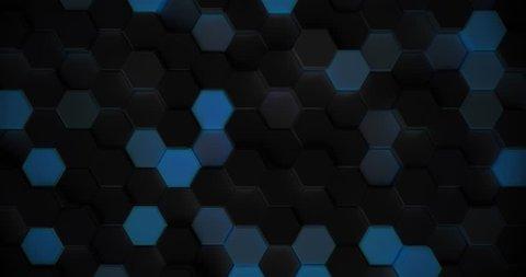 3d rendering hexagonal dark pattern